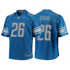 Youth Detroit Lions #26 DeShawn Shead Blue Team Color Player Jersey