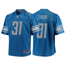 Youth Detroit Lions #31 Teez Tabor Blue Team Color Player Jersey