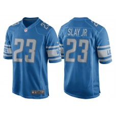Youth 2017 Detroit Lions #23 Darius Slay Blue Game New Jersey