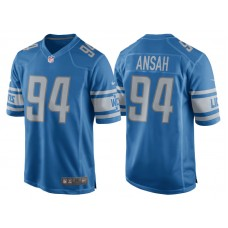 Youth 2017 Detroit Lions #94 Ezekiel Ansah Blue Game New Jersey