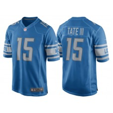 Youth 2017 Detroit Lions #15 Golden Tate Blue Game New Jersey