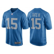Youth 2017 Detroit Lions #15 Golden Tate Blue Throwback Game New Jersey