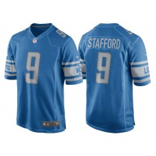 Youth 2017 Detroit Lions #9 Matthew Stafford Blue Game New Jersey