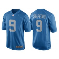 Youth 2017 Detroit Lions #9 Matthew Stafford Blue Throwback Game New Jersey