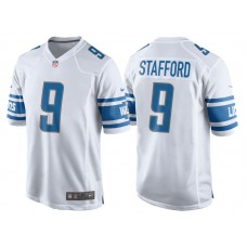 Youth 2017 Detroit Lions #9 Matthew Stafford White Game New Jersey