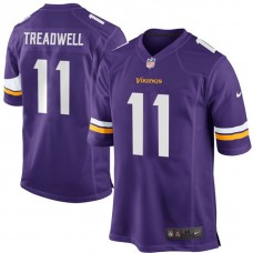 Youth Minnesota Vikings #11 Laquon Treadwell Purple Game Jersey