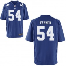 Youth New York Giants #54 Olivier Vernon Royal Game Jersey
