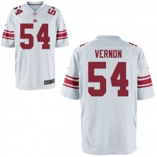 Youth New York Giants #54 Olivier Vernon White Game Jersey