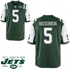Youth New York Jets #5 Christian Hackenberg Green Game Jersey