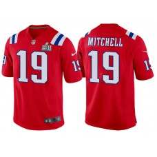 Youth New England Patriots #19 Malcolm Mitchell Red Super Bowl LII Bound Game Jersey