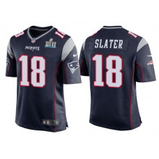 Youth New England Patriots #18 Matthew Slater Navy Super Bowl LII Bound Game Jersey