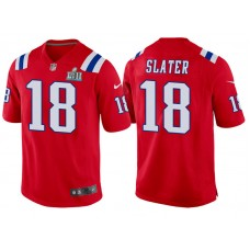 Youth New England Patriots #18 Matthew Slater Red Super Bowl LII Bound Game Jersey