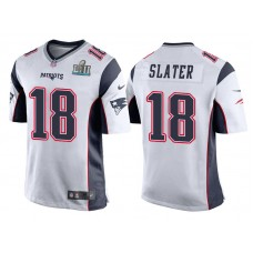 Youth New England Patriots #18 Matthew Slater White Super Bowl LII Bound Game Jersey