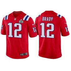 Youth New England Patriots #12 Tom Brady Red Super Bowl LII Bound Game Jersey