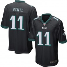 Youth Philadelphia Eagles #11 Carson Wentz Black Game Jersey