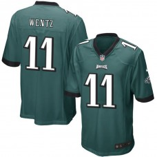 Youth Philadelphia Eagles #11 Carson Wentz Green Game Jersey