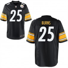 Youth Pittsburgh Steelers #25 Artie Burns Black Game Jersey