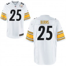 Youth Pittsburgh Steelers #25 Artie Burns White Game Jersey