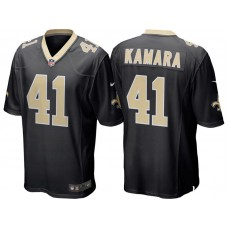 Youth New Orleans Saints #41 Alvin Kamara Black Game Jersey