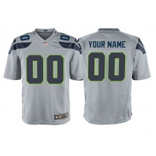 Youth Seattle Seahawks Gray Game Customized Jersey