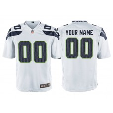 Youth Seattle Seahawks White Game Customized Jersey