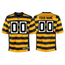 Youth Pittsburgh Steelers Gold Alternate Game Customized Jersey