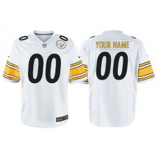 Youth Pittsburgh Steelers White Game Customized Jersey