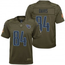 Youth Tennessee Titans Corey Davis Olive 2017 Salute to Service Game Jersey