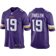 Youth Minnesota Vikings #19 Adam Thielen Purple Game Jersey