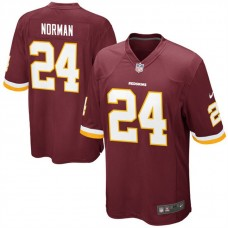 Youth Washington Redskins #24 Josh Norman Burgundy Game Jersey