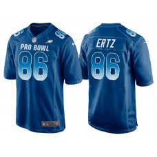 2018 Pro Bowl NFC Philadelphia Eagles #86 Zach Ertz Royal Game Jersey